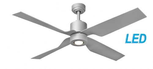 "Fantasia Tau Elite  50"" Silver Ceiling Fan + Remote Control +  LED Light 115779"
